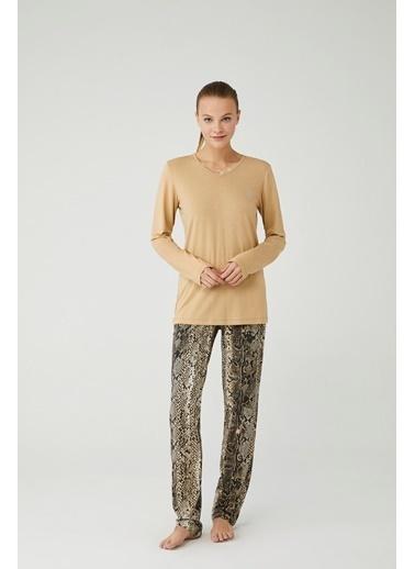 Mod Collection Kadın Pijama Takımı Bej